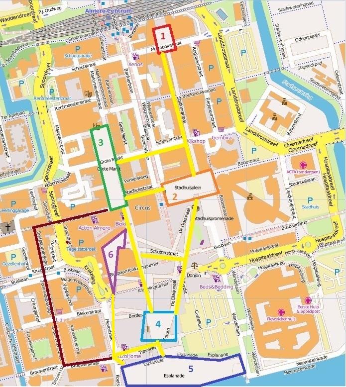 Almere Stad Map