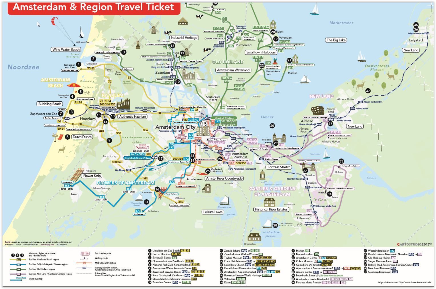Amsterdam Almere Travel Pass Map