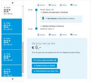 Amsterdam to Almere Train