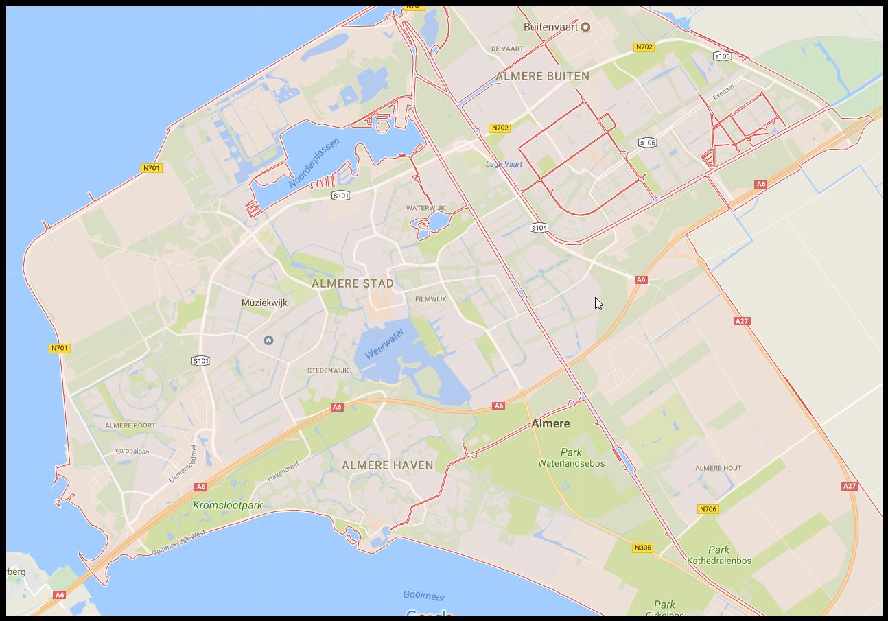 Almere Netherlands Map