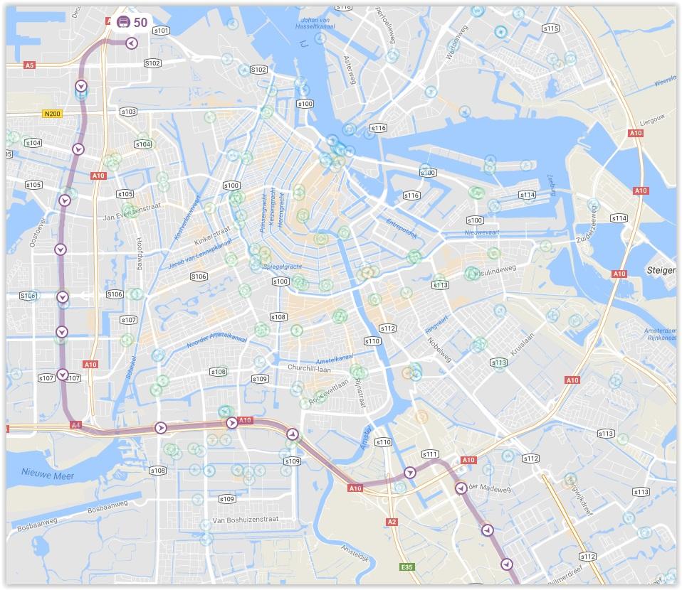 Amsterdam Metro Line 50 Map