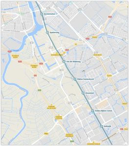 Amsterdam Metro Lijn 54 Map