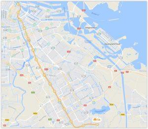Amsterdam Metro Line 54 Map