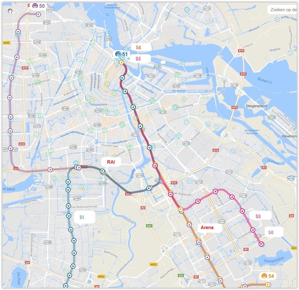 Amsterdam Metro Train Subway Map