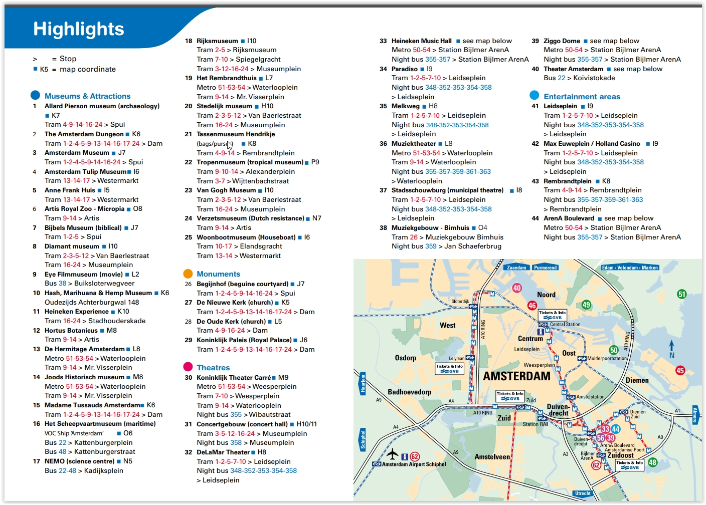 Amsterdam Sites Map