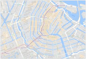 Amsterdam Tram 1 Map