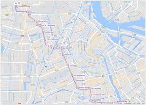 Amsterdam Tram 12 Map