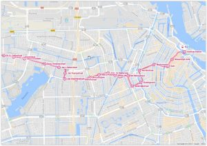 Amsterdam Tram 13 Map