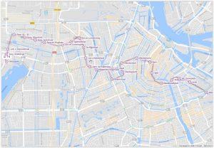 Amsterdam Tram 14 Map