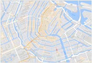 Amsterdam Tram 2 Map