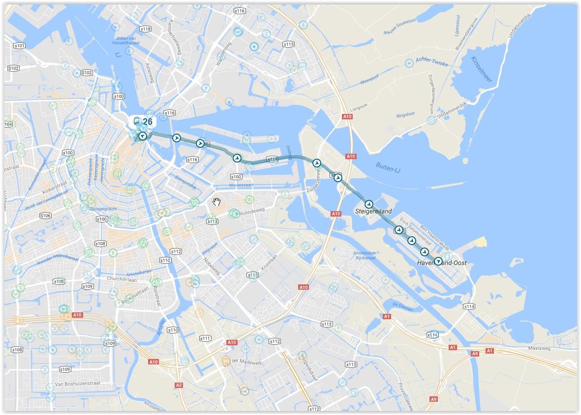 Amsterdam Tram 26 Map