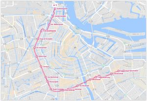 Amsterdam Tram 3 Map