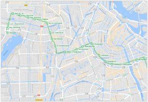 Amsterdam Tram 7 Map