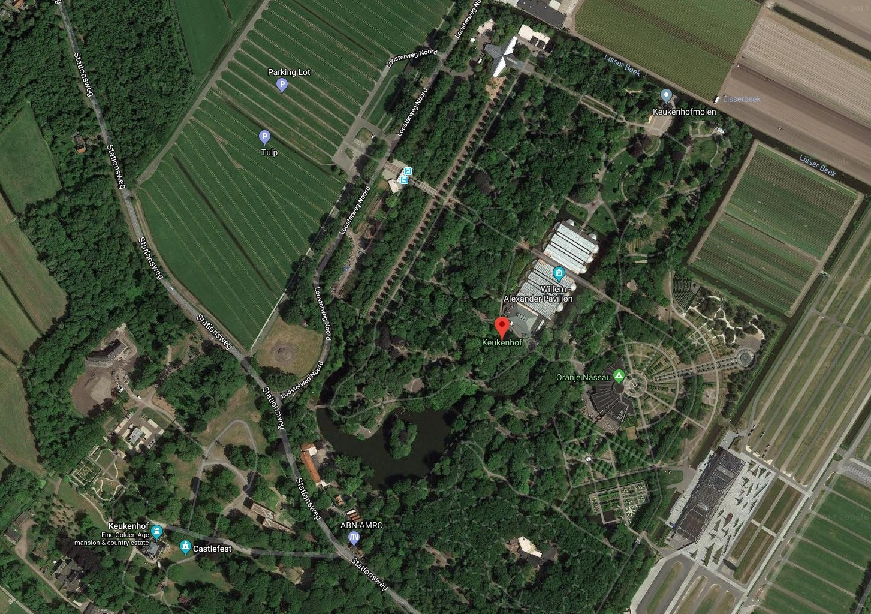 Keukenhof Aerial Map