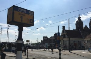 Amsterdam Tram Track Sign