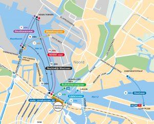 Amsterdam Free Ferry Map 2019