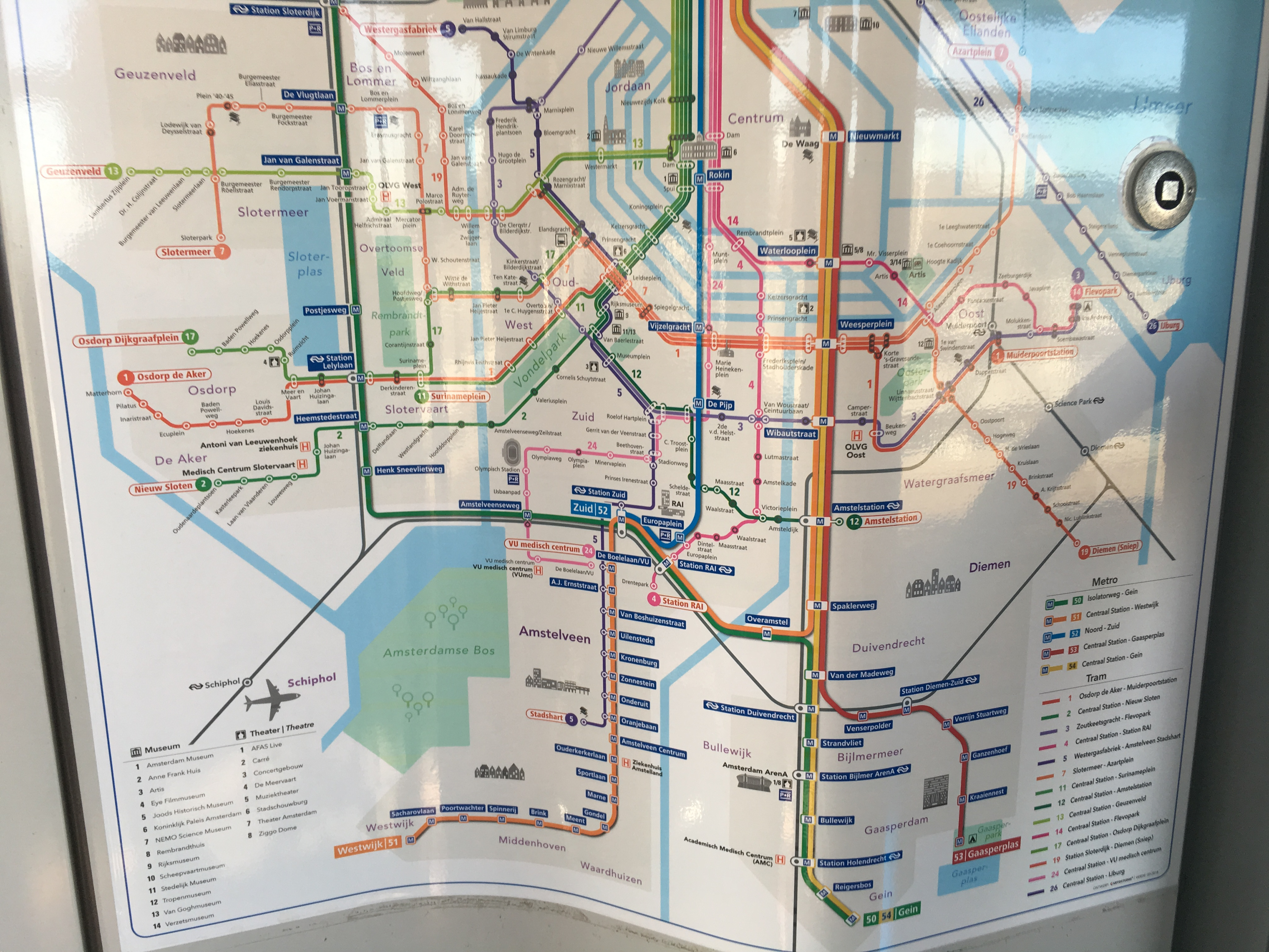 Amsterdam Tram Map 2019
