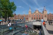 Amsterdam Centraal Metro Entrance Staircase